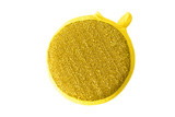 golden sponge for cleaning isolated on white background - 174214715