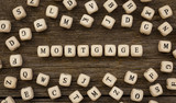 Word MORTGAGE made with wood building blocks - 174227198