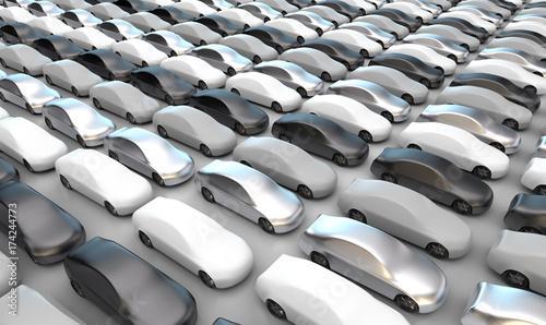 Fahrzeuge in grau, schwarz, silber und weiß