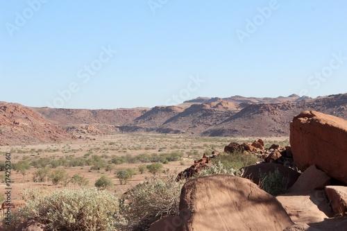 In de dag Zalm Desert Namibie