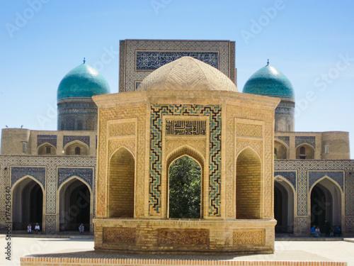 Beautiful uzbek blue tile architecture