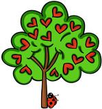 Love tree with ladybird