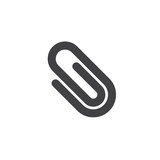 Paper clip icon vector, filled flat sign, solid pictogram isolated on white. Symbol, logo illustration. - 174292114