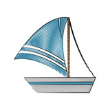sailboat ship icon image vector illustration design  - 174294333