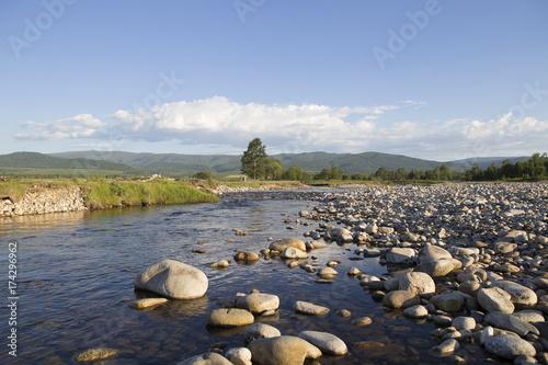 Fotobehang Bergrivier Mountain river in Siberia