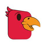 happy bird cartoon icon image vector illustration design