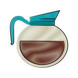 kettle coffee beverage icon image vector illustration design