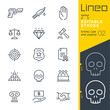 Lineo Editable Stroke - Crime, Law and Justice line icons Vector Icons - Adjust stroke weight - Expand to any size - Change to any colour