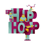 HIP HOP MUSICIANS LETTERING.