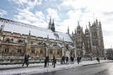 Snow on parliament