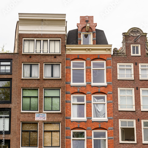 Foto op Aluminium Amsterdam Niederländische Häuser