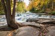 Upper Bond Falls in Autumn. Upper Peninsula of Michigan