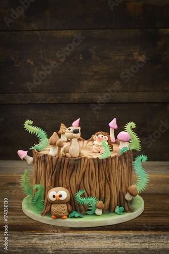 Aluminium Betoverde Bos Enchanted forest cake