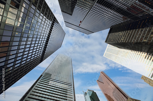 Fotobehang Toronto Toronto skyline in financial district