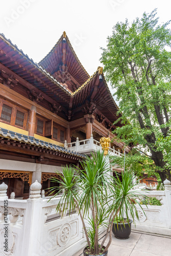 Jingan Tempel in Shanghai Poster