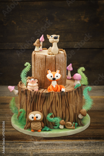 Canvas Betoverde Bos Enchanted forest cake
