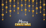 elegant christmas star background - 174333720