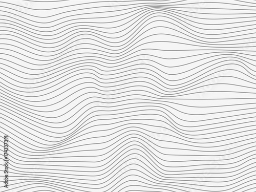 Staande foto Abstract wave Overlay lines gray.Blend lines gray.