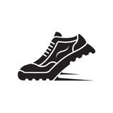 speeding running sport shoe icon - 174345546