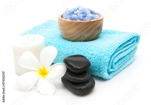 spa setting close-up isolated
