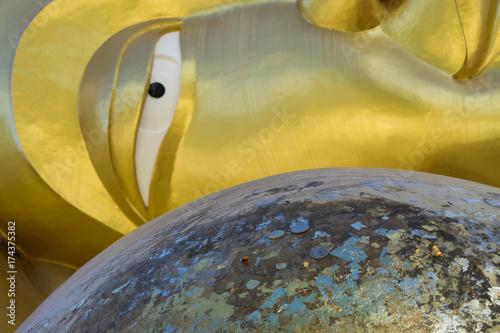 Poster Boeddha Eye Golden Buddha