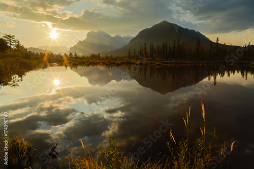 Aluminium Canada First Light In Canadian Rockies