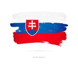 Flag of Slovakia. Abstract concept