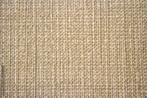 Striped linen sack texture background in brown