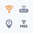 WiFi Symbols - Carbon Icons. A set of 4 professional, pixel-aligned icons designed on a 32 x 32 pixel grid.