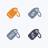 Price Tags - Carbon Icons. A set of 4 professional, pixel-aligned icons designed on a 32 x 32 pixel grid. - 174405768