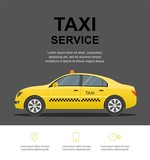 Taxi service concept. Vector banner, poster or flyer background template.  illustration. - 174412967