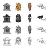 Attributes, history, antiquities and other web icon in cartoon style. Camera, surveillance, security icons in set collection. - 174416770