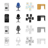 Office, supplies, equipment and other web icon in cartoon style.Table, wood, attributes, icons in set collection.