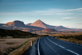 Scenic view of remote road on Iceland surrounded by dramatic landscape. - 174418952