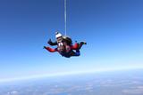 Skydiving. Tandem jump. - 174419935