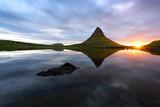 Colorful sunrise on Kirkjufellsfoss waterfall - 174427312
