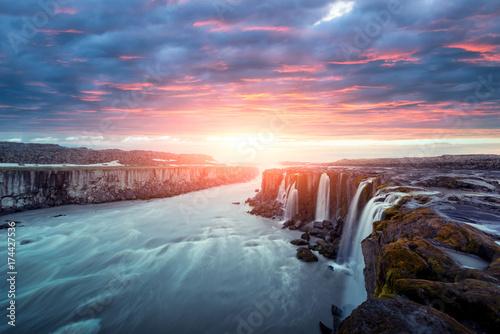 Famous Selfoss waterfall - 174427536