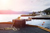 Sunny morning near the ferry moorage - 174428724