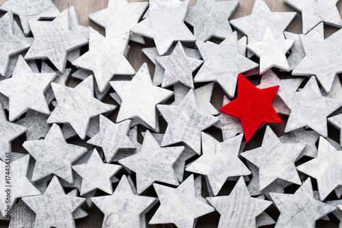 Christmas stars. New year theme background.