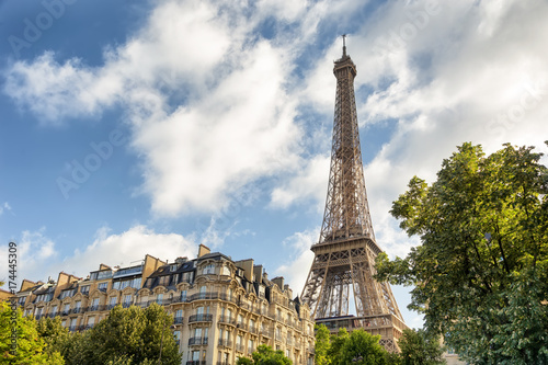 Eiffel Tower on Champs de Mars in Paris, France Poster