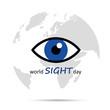 world sight day blaues auge und erdball
