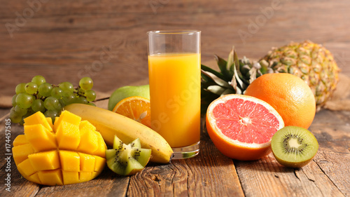 Deurstickers Sap fruit juice