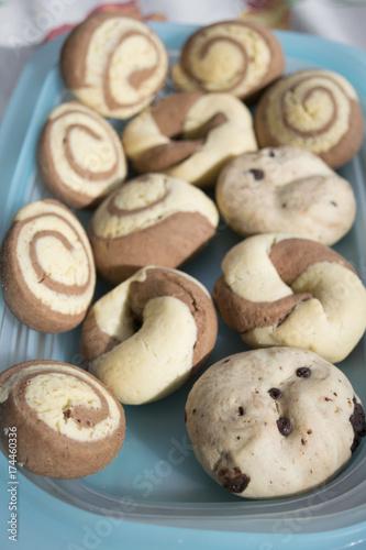 Keuken foto achterwand Macarons homemade french macarons