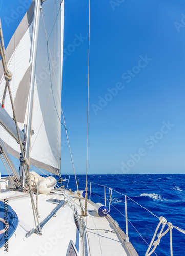 yacht near Sardinia island Poster