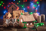 Magical Christmas gingerbread cottage in the unique place - 174476164