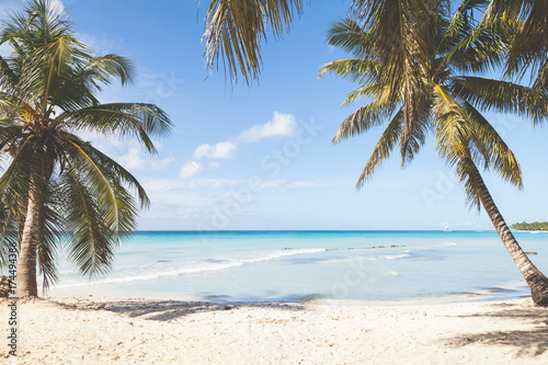 Tropical island beach, background photo © eugenesergeev