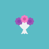 Flat Icon Bouquet Element. Vector Illustration Of Flat Icon Posy Isolated On Clean Background. Can Be Used As Bouquet, Flower And Posy Symbols. - 174497350