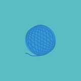 Flat Icon Wool Element. Vector Illustration Of Flat Icon Yarn Isolated On Clean Background. Can Be Used As Wool, Yarn And Ball Symbols. - 174497563