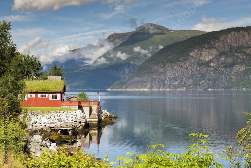 house at the eidfjord norway - 174497960
