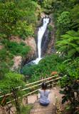 Gitgit waterfalls, surrounded by beautiful wild nature
